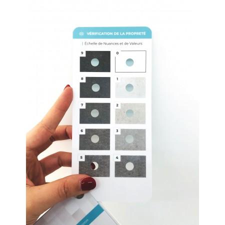 Dispositivo di diagnosi del grado d'impolveramento delle superfici